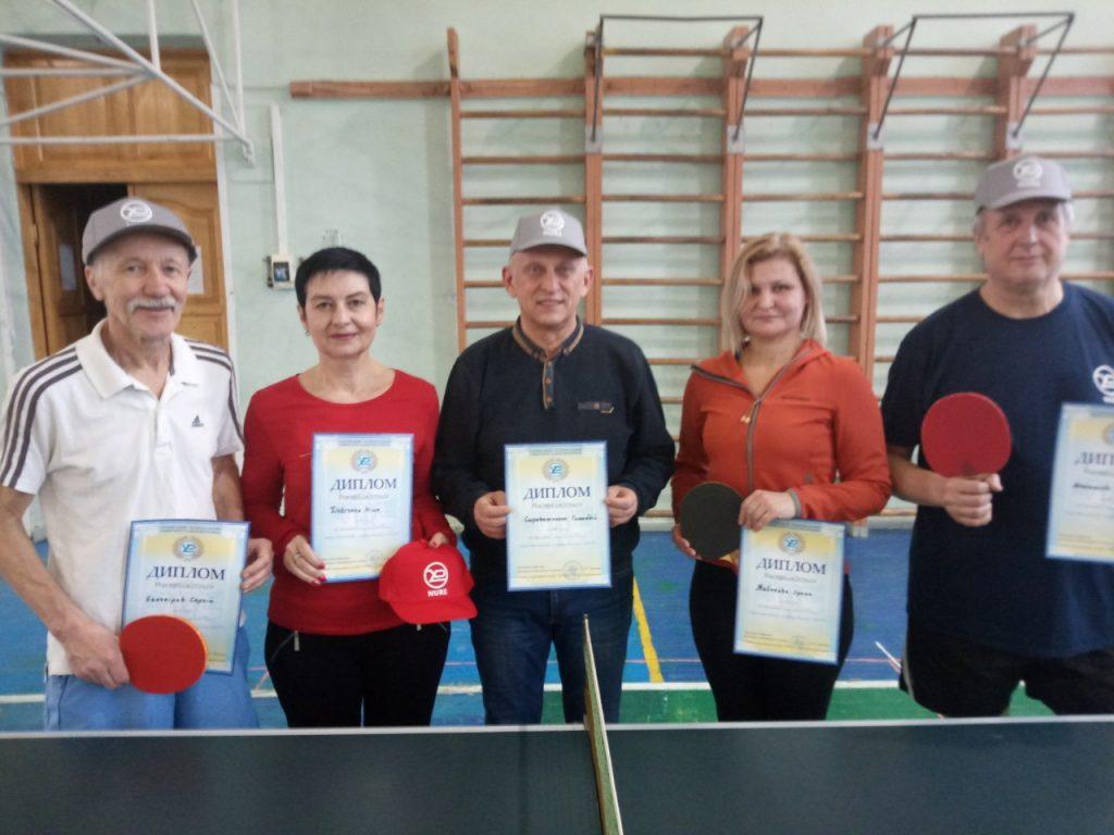 У ХНУРЕ відбулись змагання з настільного тенісу