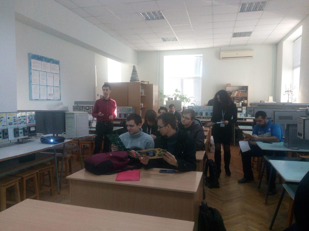 Студенты ХНУРЭ встретились с представителями ведущих компаний в области электроники