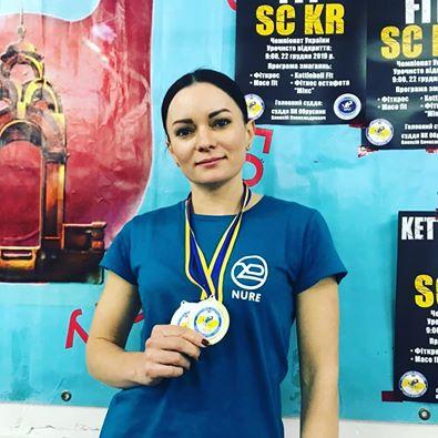 Ганна Грохова виборола подвійне чемпіонство з гирьового фітнесу