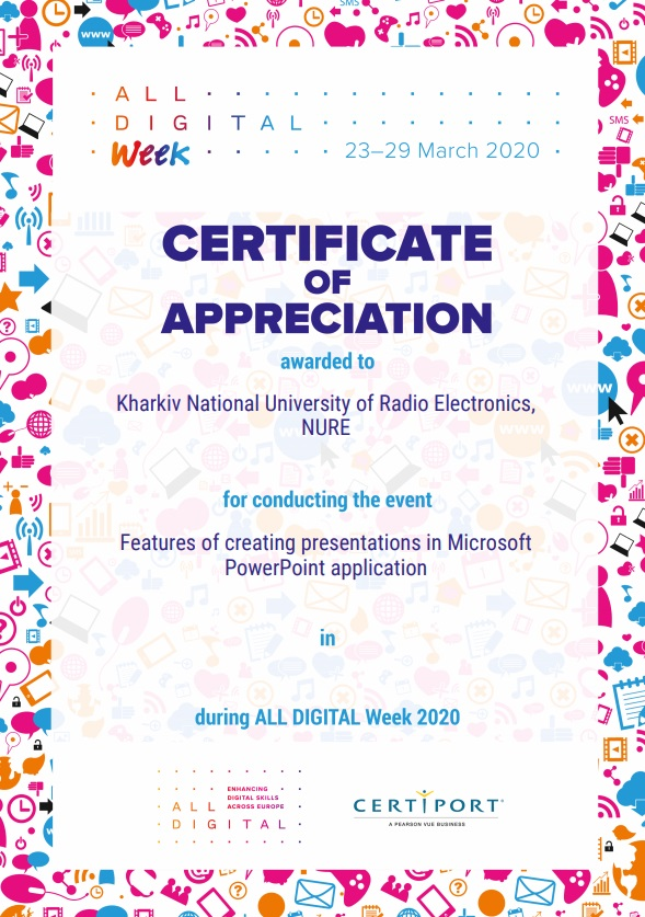 NURE representatives participated in the ALL DIGITAL Week webinar