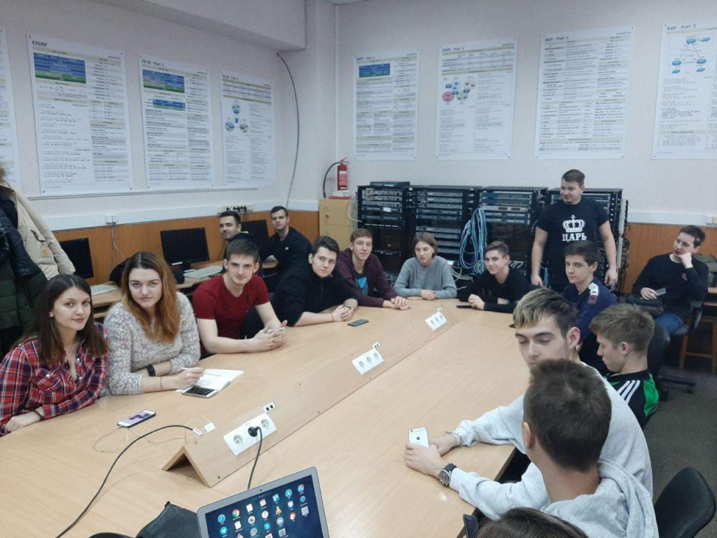 Online webinar with Cisco Academy was held at ICE Department