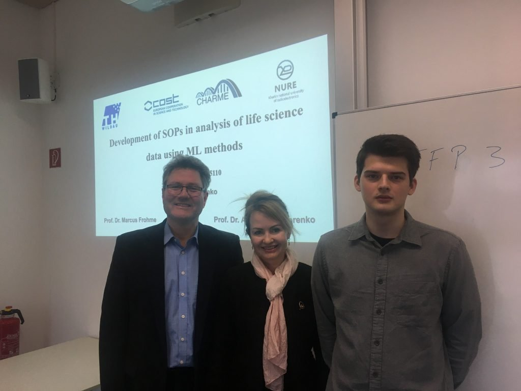 A NURE student presented the STSM project which will be implemented in Germany