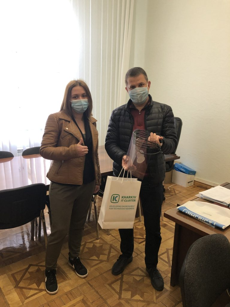 Kharkiv's IT Cluster has given the protective screens to NURE