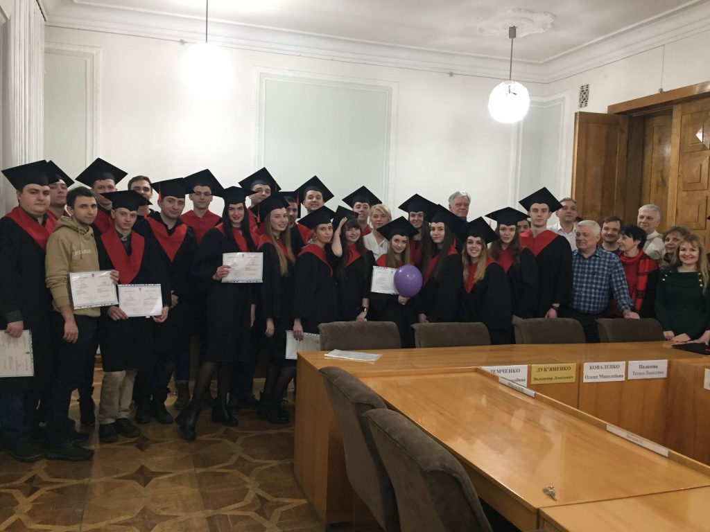 A solemn presentation of Master's Degree Diplomas of the Systems Engineering Department took place in NURE