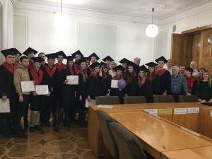 В ХНУРЭ состоялось торжественное вручение дипломов магистрам кафедры системотехники