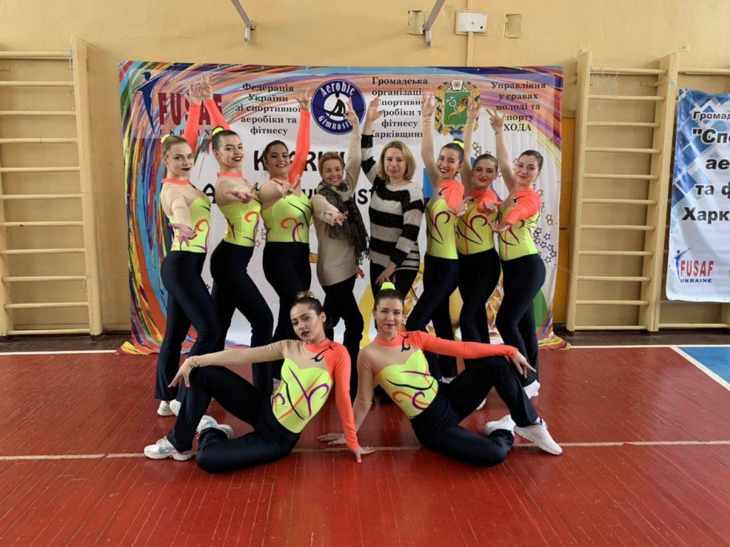 Студенты ХНУРЭ выиграли «бронзу» на региональном чемпионате по спортивной аэробике