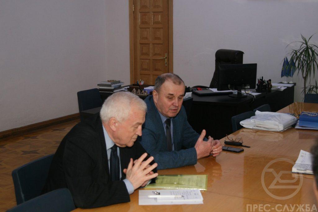 Ректор ХНУРЕ провів робочу зустріч з Віктором Богомоловим