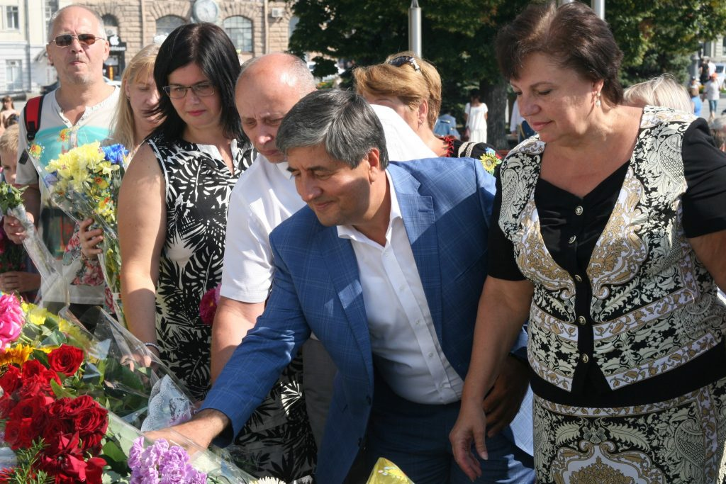 The NURE leadership together with the Kharkiv residents honoured Ukraine's Independence Day