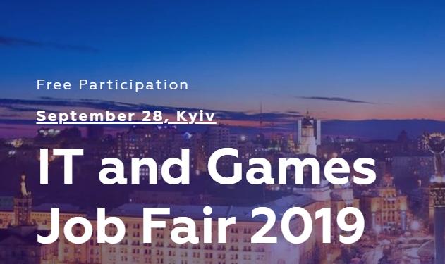 Приглашаем разработчиков игр на «IT and Games Job Fair» в Киеве