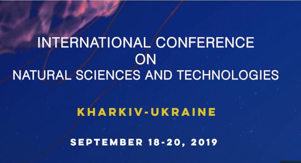 Запрошуємо взяти участь у Міжнародній конференції з природничих наук та технології «ICONAT 2019»