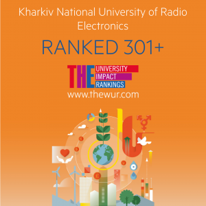 NURE ranked 301+ in the International University Ranking of THE University Impact Rankings