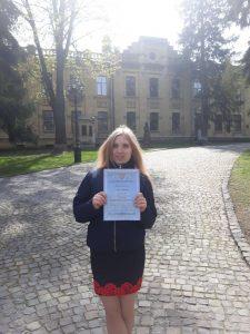 Студентка ХНУРЕ увійшла в трійку переможців у Всеукраїнському конкурсі студентських наукових робіт