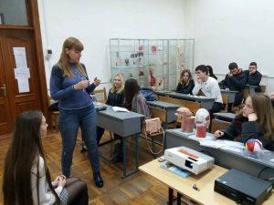 Доцент кафедри неврології медичного університету провела лекцію для студентів БМІ