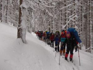 Туристы ХНУРЭ в зимних Карпатах