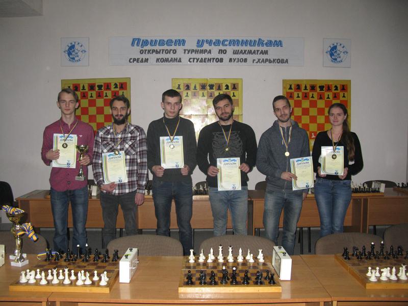 Шахматисты ХНУРЭ одержали победу на областных соревнованиях среди студентов высших учебных заведений